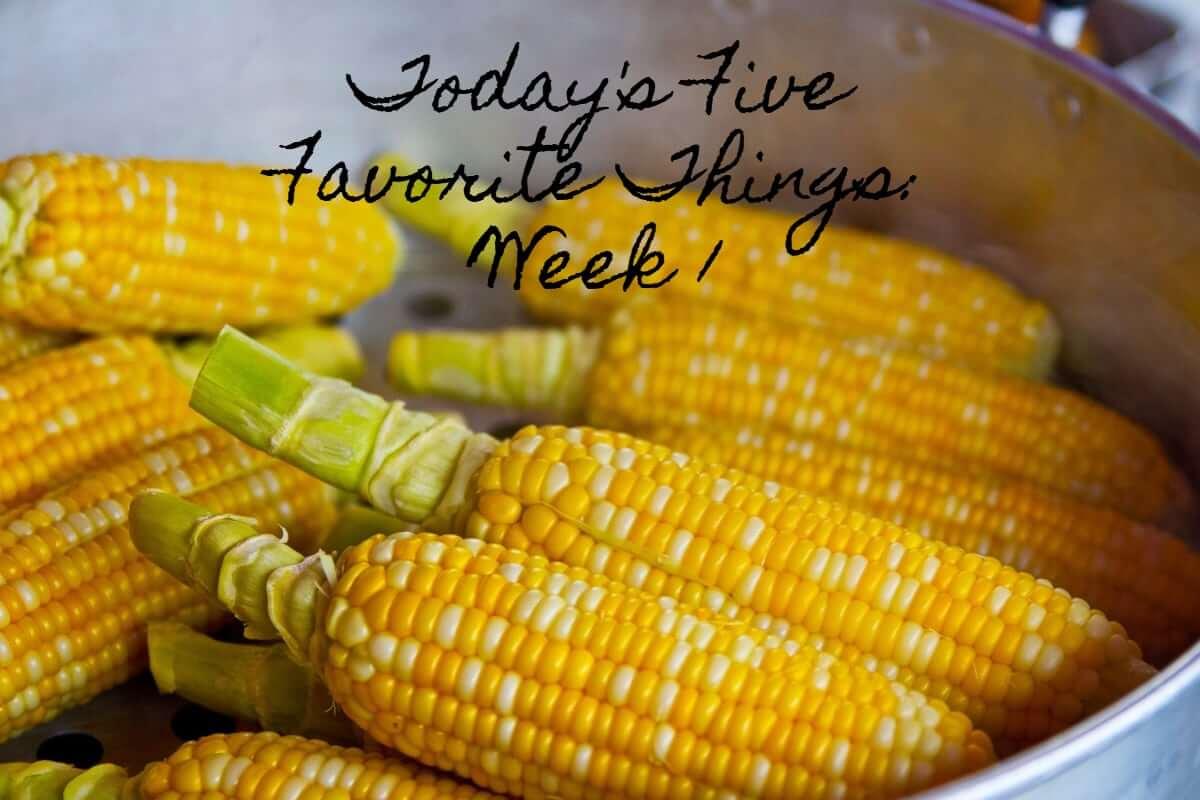 Today's Five Favorite Things Week 1