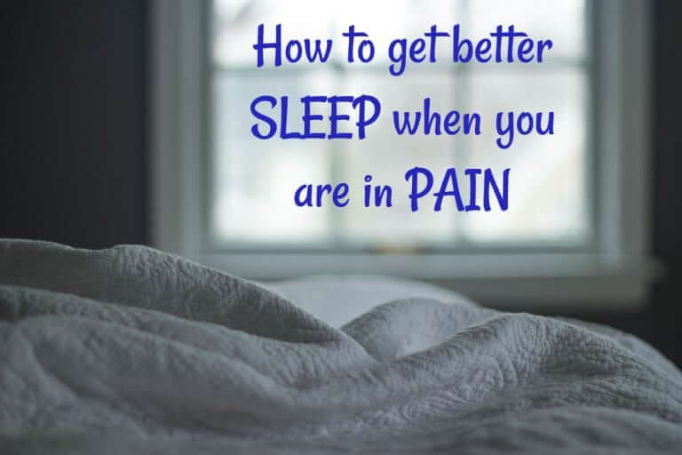 How to get better sleep when you are in pain