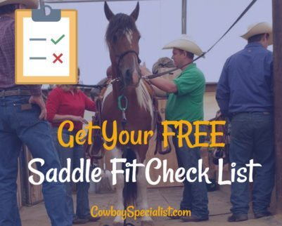 Get Your Free Saddle Fit Check List