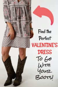 Valentine dress with Boots